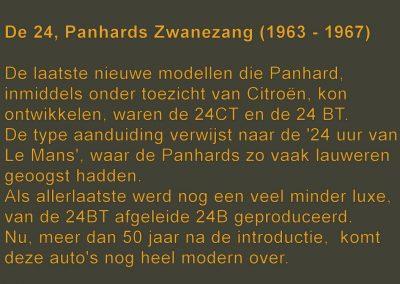 De 24, Panhards zwanezang